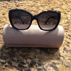 Jimmy Choo blue sunglasses with case